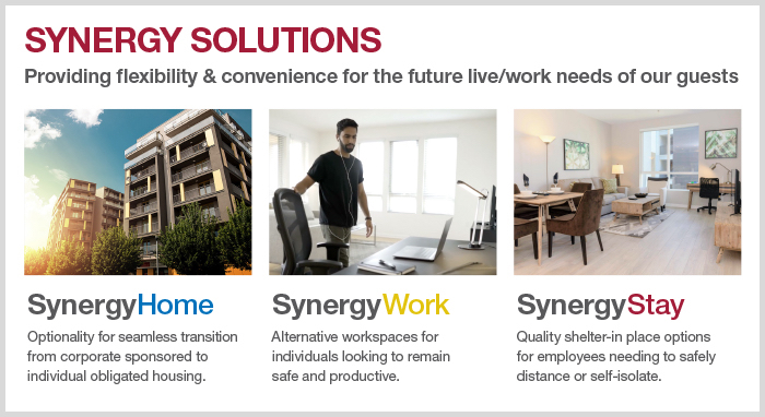 Photo of SynergySolutions, an alternative serviced accommodations product suite.